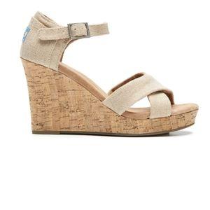 TOMS Sierra Cork Wedge Sandal